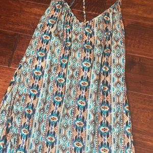 L*Space Xs Aztec Spaghetti Strap Swimsuit Coverup